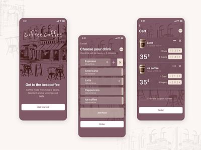 Coffee shops App mobile app design mobile app ux ui design app