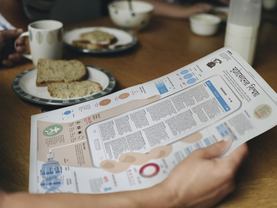 News paper info graphics