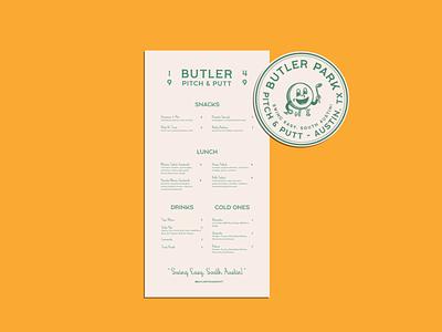 Butler Typography Samples graphic design branding design vintage texas austin golf ball sports golf menu design identity design type visual design illustration typography female designers brand identity branding brand design