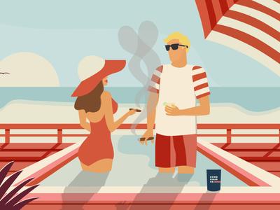 Good Cigar Co. - Valentine's Pool Illustration