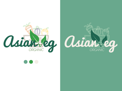 Asian Veg Logo vector logo flat illustration design branding