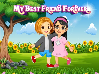 Friend Forever design advertising vector brand identity corporate branding illustration