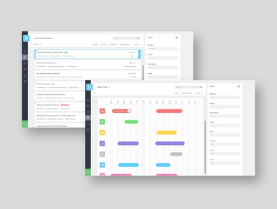UI Design for Task Management Site (Light Mode)
