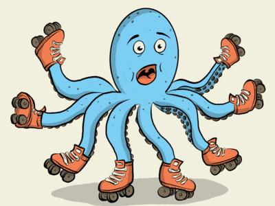 Roller Skate - Octopus