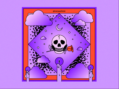 Black Flame Candles halloween vector illustrator aesthetic design illustration 2020 graphic design
