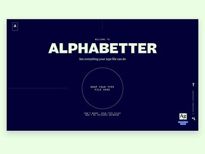 Alphabetter Upload Animation upload webflow animation web webdesign motion typography design