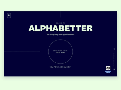 Alphabetter Upload Animation upload webflow animation web webdesign motion typography design