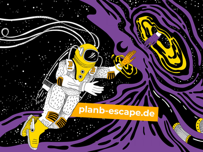 PlanB. Identity for Escape games & VR space platform. gaming room quest freshdesign fresh identity interior wall art sketches vector animation branding design illustration