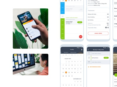 The Joy. Beauty & Wellness joy platform booking beauty wellness branding ios android app design animation mobile development fresh freshdesign ux ui