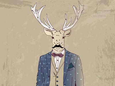 Deer Hipster Fashion