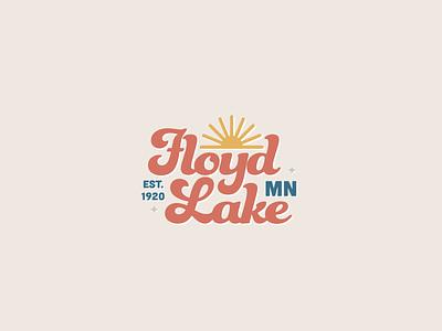 Floyd Lake Logo branding graphicdesign lake funkydori illustrator cc logo design logo