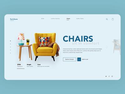 Furniture - a clean and modern website design
