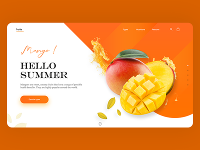 Fruits - Modern landing page design.