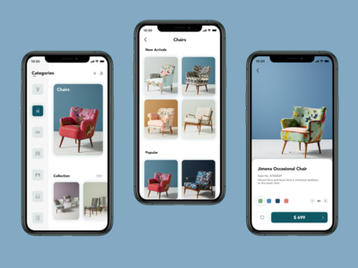 Furniture Modern App Design app design branding modern minimal ux ui design