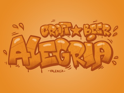 graffiti alegria design color colors graffiti digital logo valencia beer craft alegria graffiti