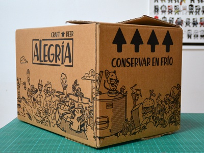 Cervezas Alegría craftbeer illustration doodle cartoon packaging beers beer box alegria cervezas