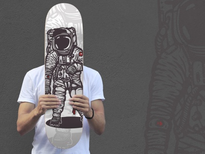 spaceman skate spaceman space cartoon comic astronaut roller skateboard skate