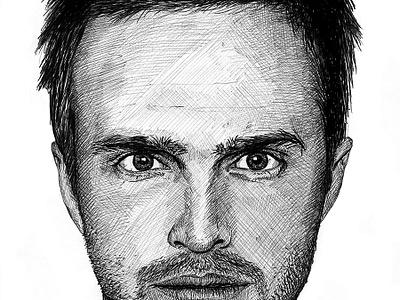 Jesse Pinkman Illustration breaking bad jesse pinkman aaron paul portrait fan art illustration sketch pen