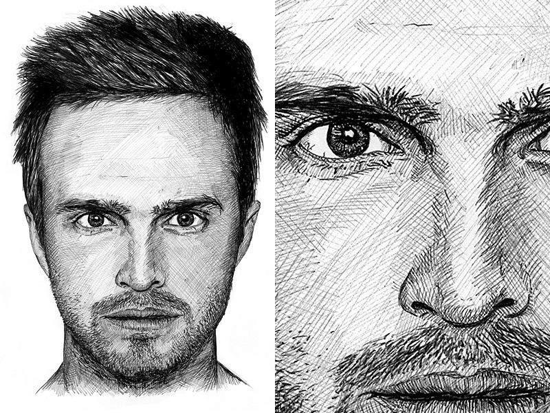 Jesse Pinkman Illustration breaking bad jesse pinkman aaron paul portrait fan art illustration sketch pen
