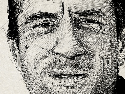 De Niro sketch robert de niro de niro jack walsh sketch illustration pen black  white midnight run