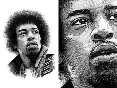 Jimi Hendrix Illustration