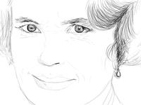 Cora Crawley Illustration