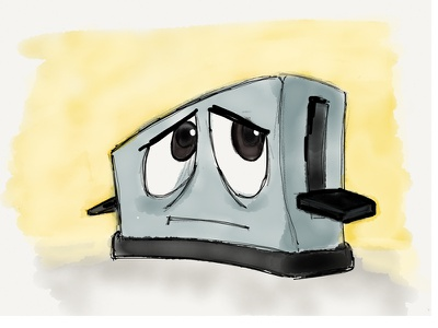 Brave Little Toaster sketch paper ipad wacom bamboo