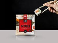 NORI banner design branding sushi nori illustration