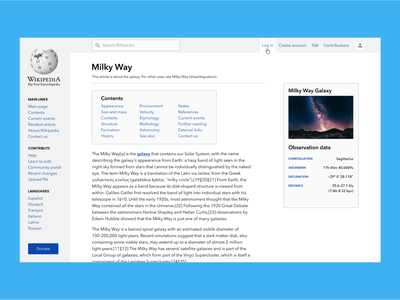 Wikipedia Page Redesign wikipedia webdesign redesign