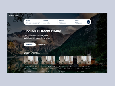 Home/Apartment Finder Web App website design home finder apartment finder