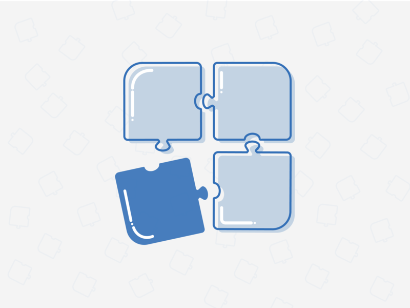Puzzle placeholder illustraion figma branding vector