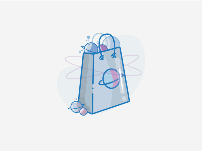 Shopping icon branding ux placeholder illustraion figma vector