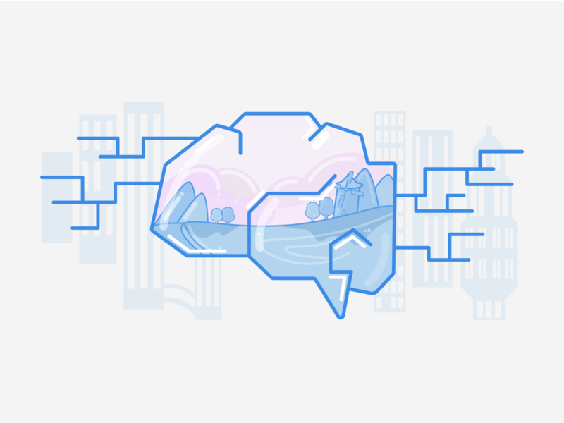 Artificial intelligence (AI) logo character design illustration vector ai