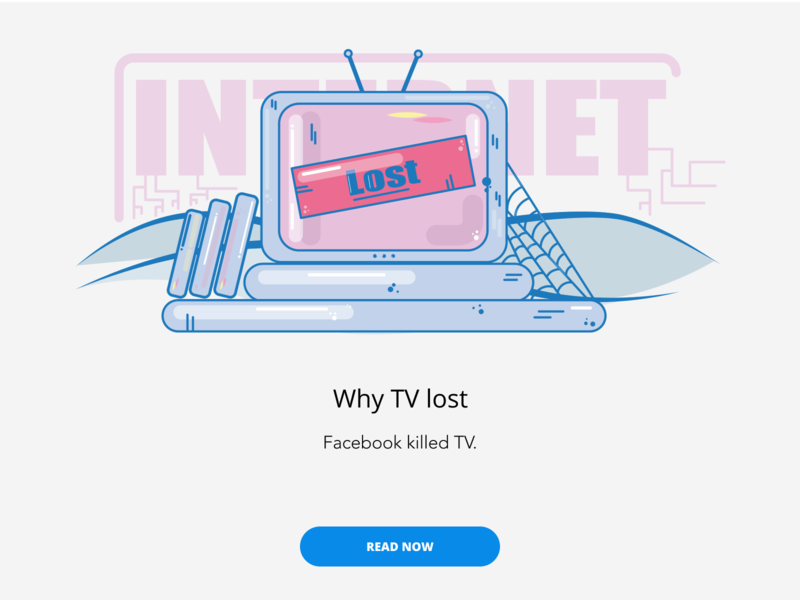 Why TV lost article branding blog design illustration vector