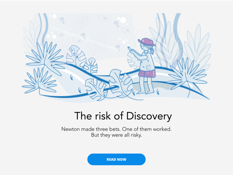 The risk of Discovery character illustrator ui branding writing blog article placeholder illustration