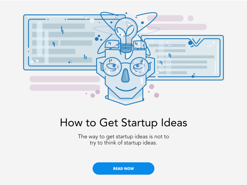 How to Get Startup Ideas writing blogger article icon ux vector logo blog placeholder character illustration