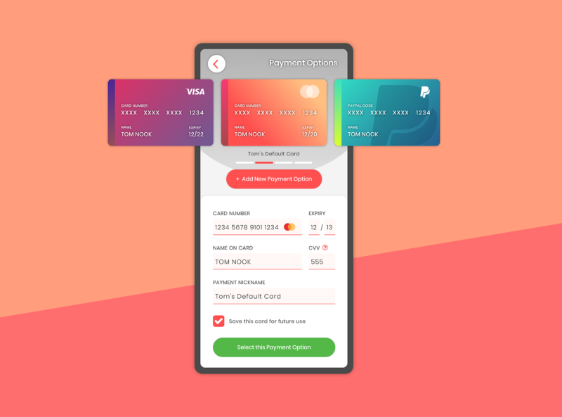 UI Challange 2: Credit Card Checkout
