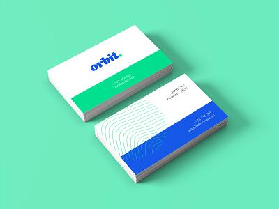 Business Card - Orbit brand design colors business card design design logo branding graphic design business card