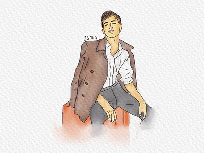 Illustration Men watercolor ideas brush strong digitalart illustration men