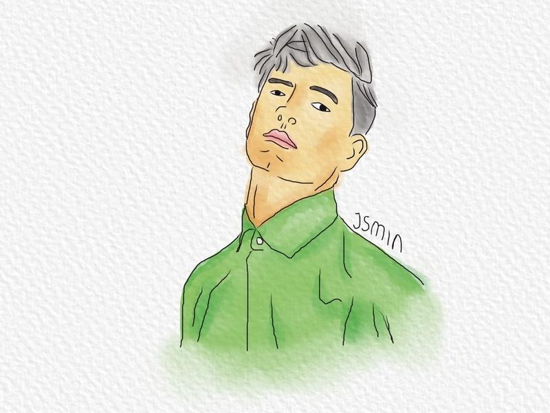 Illustration Men watercolor inspiration men brush illustration digitalart