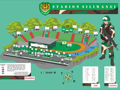 Design Infotainment maps vector stadium army inspiration design maps