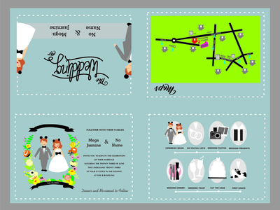 wedding invitation design. invitation card wedding women men inspiration design