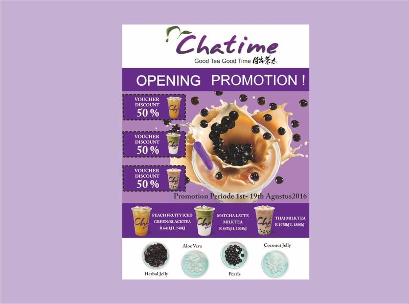 Chatime poster design branding design art poster chatime