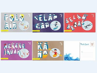 surfing post card design design inspiration water poster design postcard surfing