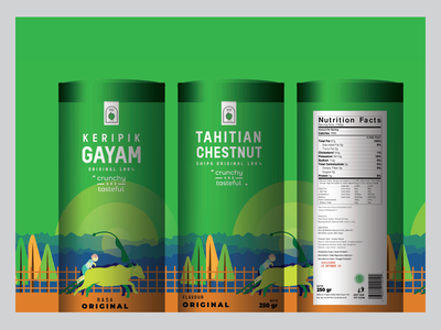 Packaging Design Of Tahitian Chestnut Chips packaging original packaging mockup packagingdesign branding design illustration