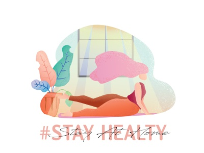 Stay Healty vector adobe illustrator illustration design