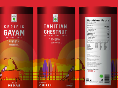Packaging Design Of Tahitian Chestnut Chips packaging mockup vector packagingdesign packaging illustration design