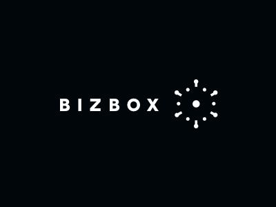 Bizbox logo mark business ideas explosion branding box 3d