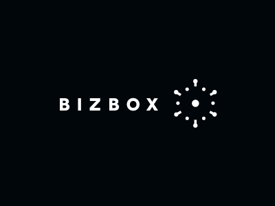 Bizbox logo mark business ideas explosion branding box 3d