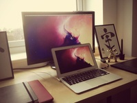 Hipster photo of current workspace